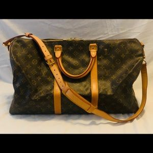 ❤️100% Auth❤️Louis Vuitton Bandouliere Keepall 50